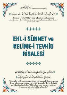 EHL-İ SÜNNET ve KELİME-İ TEVHİD RİSALESİ EHL