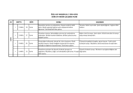 ay konu kazanım gün özel alp anaokulu / 2014
