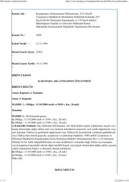4208 sayılı Karaparanın Aklanmasının Önlenmesine Dair Kanun