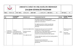 yön.pl. 06 çalışan güvenliği planı - Amasya Ağız ve Diş Sağlığı Merkezi