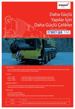 Structor 700 Yüksek Mukavamet Plakaları