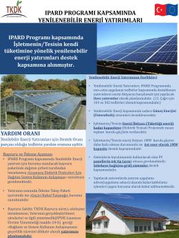 IPARD Programı kapsamında Yenilenebilir Enerji Yatırımlarına