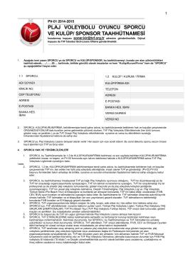 pv-01 / tvf sporcu/kulüp/firma taahütnamesi
