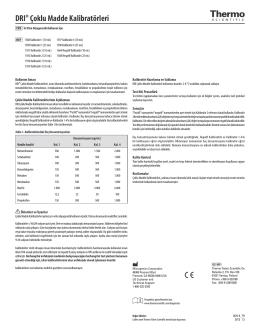 DRI® Çoklu Madde Kalibratörleri