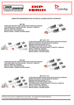 SKP Serisi ürün tanıtım ve bilgilendirme