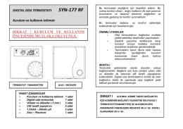 SYN-177-RF Oda Termostatı Kullanma Kılavuzu