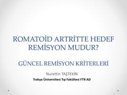 Romatoid artritte aktivasyon kriterleri nelerdir?