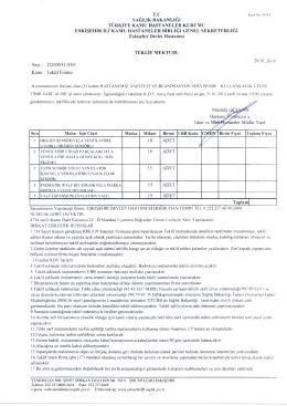 Sayı : 22205031-930/ Konu ı Teklif Formu Mustafa GH Hastans