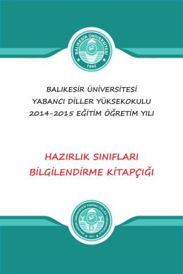 Bandırma Kampüsü Kitapçığı - Balıkesir Üniversitesi Yabancı Diller