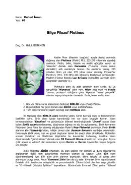 65- Bilge Filozof Plotinus