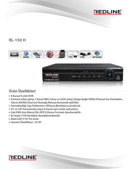 RL-150 H Ürün Özellikleri