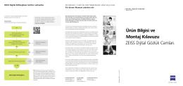 Ürün Bilgisi ve Montaj Kılavuzu ZEISS Dijital Gözlük - Cem