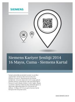 Siemens Kariyer Şenliği 2014 16 Mayıs, Cuma