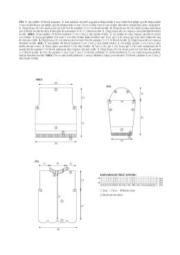 ÖN: 1. Sar› iplikle 70 ilmek bafllan›r. 2. Karnabahar modeli