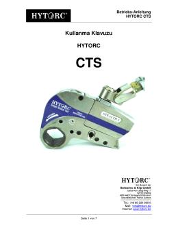 Kullanma Klavuzu HYTORC CTS
