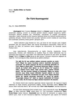 Ön-Türk Kozmogonisi