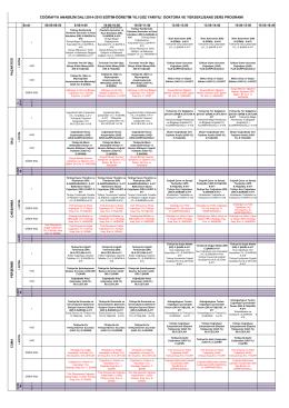 coğrafya anabilim dalı 2014-2015 eğitim
