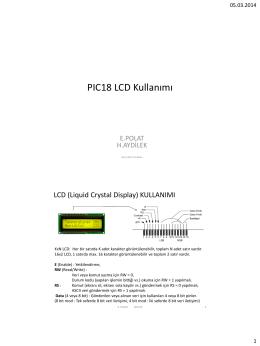 PIC18 LCD Kullanımı