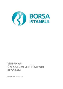viopfıx apı üye yazılımı sertifikasyon programı