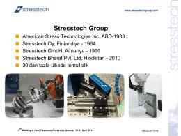 Stresstech in General