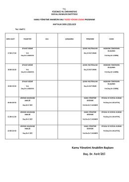 kamu yönetimi abd 2014-2015 güz dönemi ders programı