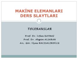 Toleranslar - Mehmet Adem Yıldız