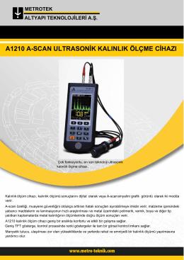 a1210 a-scan ultrasonik kalınlık ölçme cihazı