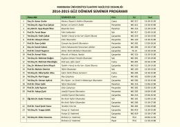 2014-2015 güz dönemi seminer programı