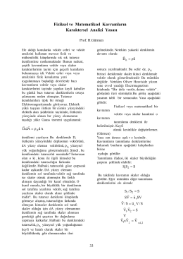 Fiziksel ve Matematiksel Kavramların Karaktersel Analizi