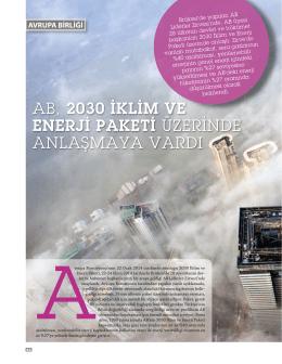 AB, 2030 İKLİM VE ENERJİ PAKETİ ÜZERİNDE ANLAŞMAYA VARDI