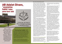"""AB Adalet Divanı, """"unutulma hakkı""""ndan yana tavır"""
