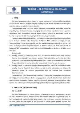 Türkiye - AB Geri Kabul Anlaşması
