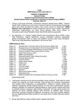 -İLAN- KBRN Ekipman Alımı (AF-GA4.3.1) TÜRKİYE