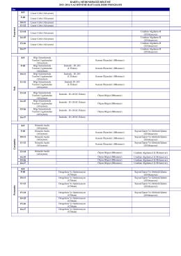 HARİTA MÜHENDİSLİĞİ BÖLÜMÜ 2013–2014 YAZ DÖNEMİ