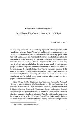 Elveda Rumeli Merhaba Rumeli İsmail Arslan, Kitap