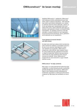 OWAconstruct® ile tavan montajı