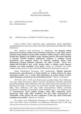 Ek-1 - İzmir Bölge İdare Mahkemesi