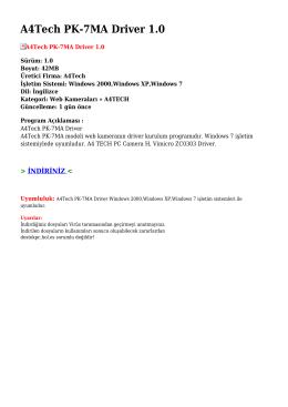 A4Tech PK-7MA Driver 1.0
