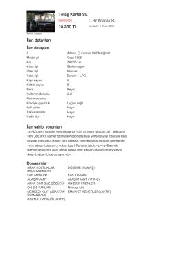 Tofaş Kartal SL 10.250 TL İlan detayları