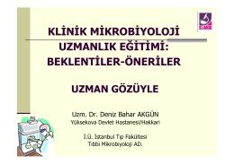 1 - Klinik Mikrobiyoloji Uzmanlık Derneği