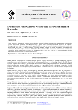Karaelmas Journal of Educational Sciences