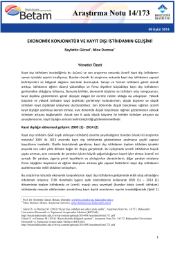 ArastirmaNotu173 - Betam - Bahçeşehir Üniversitesi
