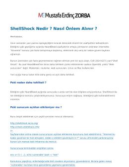 ShellShock Nedir ? Nasıl Önlem Alınır ? | merdincz