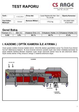 test raporu - CS ARGE Makina Teknoloji Gelistirme San. Tic. Ltd. Sti.