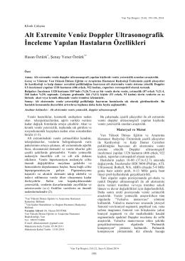 Alt Extremite Venöz Doppler Ultrasonografik