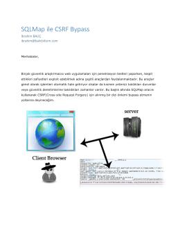 SQLMap ile CSRF Bypass