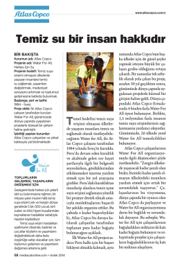 Temiz su bir insan hakkıdır