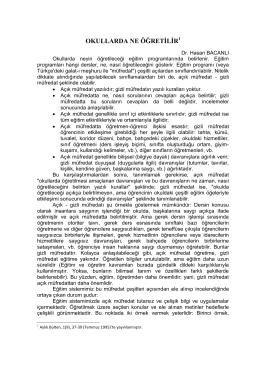 OKULLARDA NE ÖĞRETİLİR1 - Hasan BACANLI, Prof.Dr.