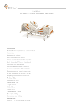 PS-NEB03 PS-NEB03 Electrical Patient Bed, Two Motors