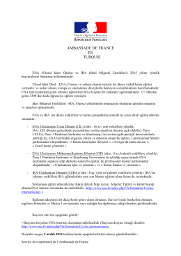 ENA 2015 ilanı - Ambassade de France
